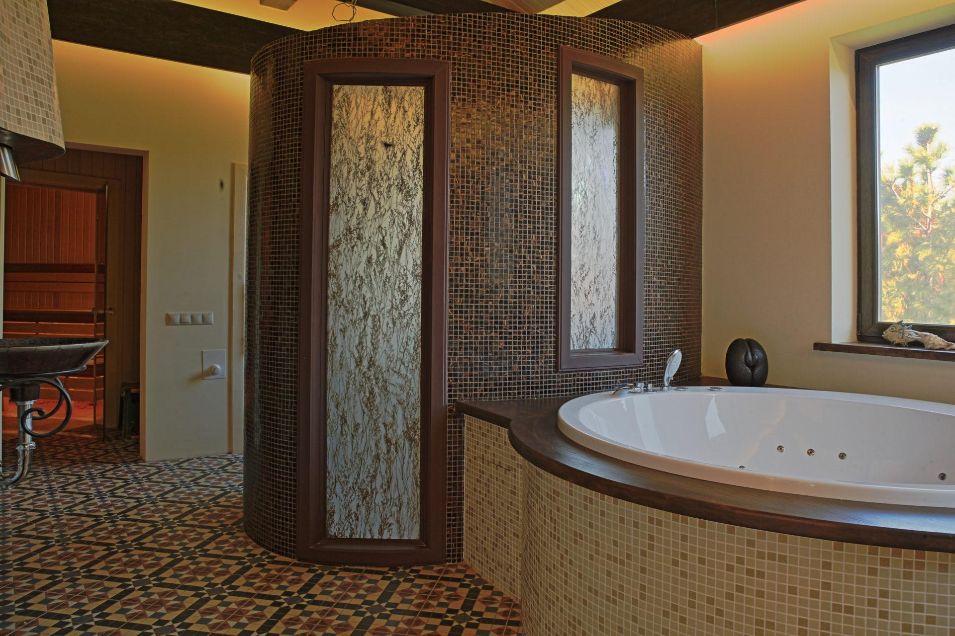 Архитектурный проект угловой бани.