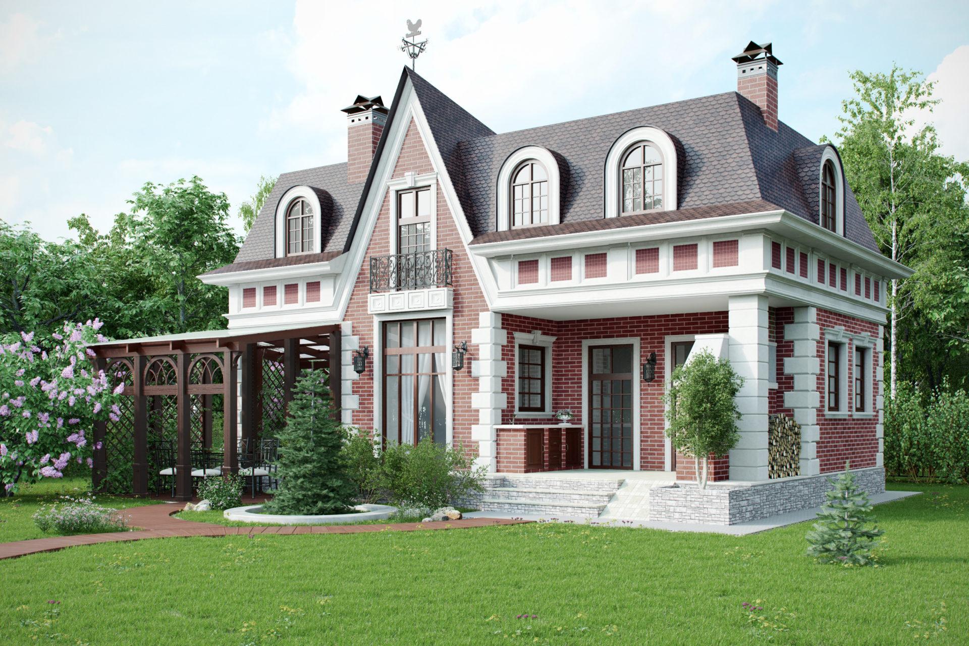 Архитектурный проект бани в классическом стиле.