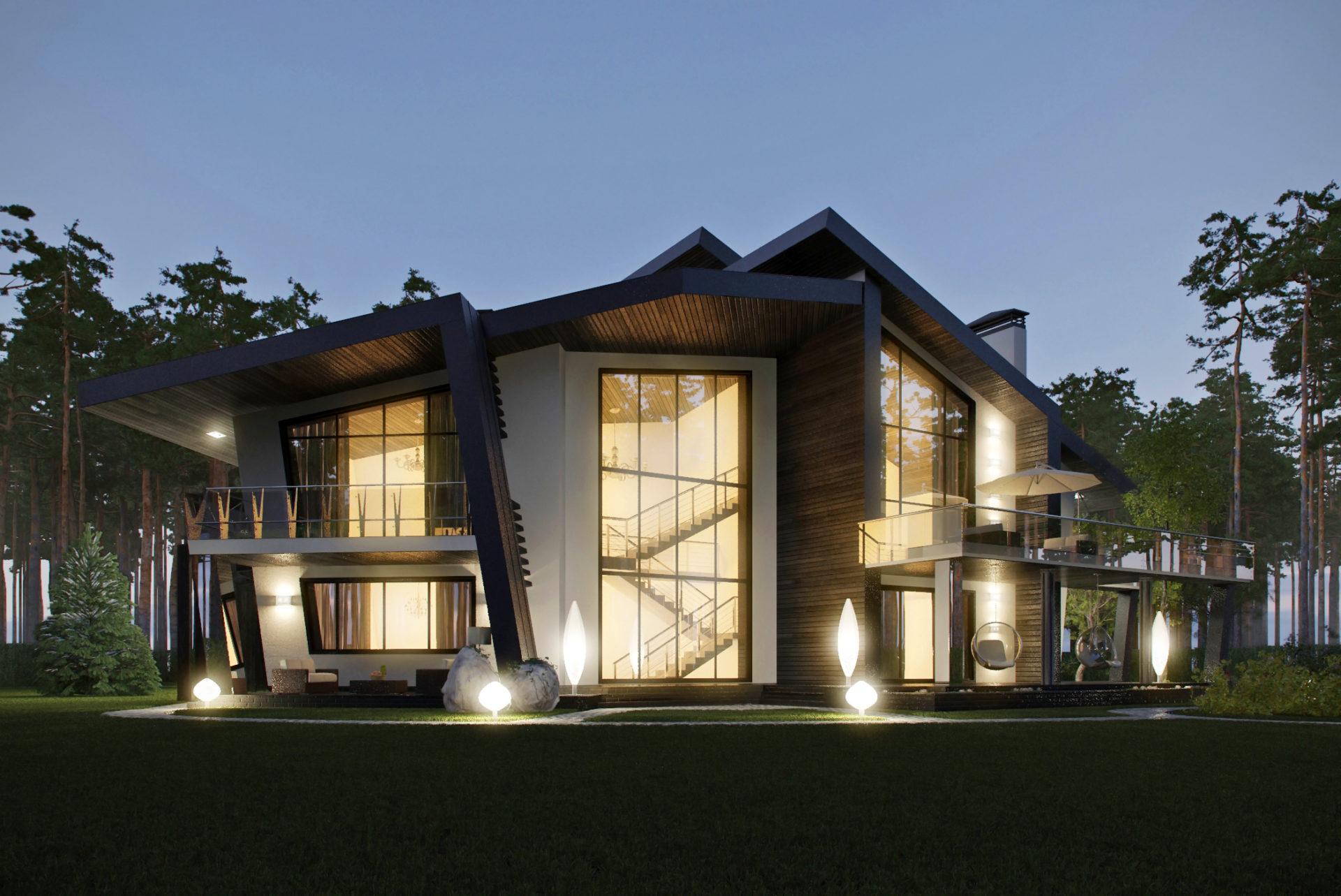 Архитектурный проект танцующего дома.